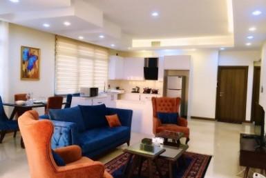 آپارتمان مبله دوخوابه در تهران پاسداران